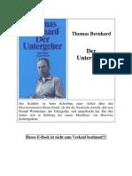 Bernhard, Thomas - Der Untergeher