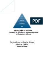 From Data to Wisdom Pathways Data Man ForAust Scie