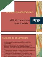 Métodos de observación