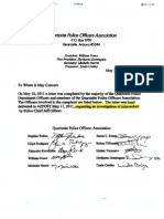 Quarlzsite Police Officers Association Letter regarding Police Chief