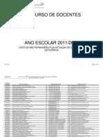 Lista de não permanência da situação de doença ou deficiência 8 Julho 2011