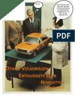 Otago VW Enthusiasts Club Newsletter March 2011