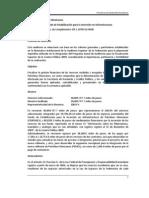2009 Operaciones del Fondo de Estabilización para la Inversión en Infraestructura