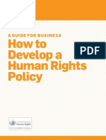Derechos Humanos Policy Guide
