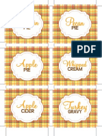 Thanksgiving Food Labels by Dimple Prints