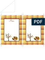 Thanksgiving Menu by Dimple Prints