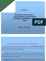 Decisiones de Inversión y Financiamiento Operaciones Financieras de Mediano y Largo Plazo