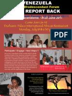 4th Afrodesciendente Encuentro Report Back