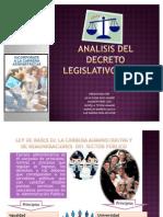 ANALISIS DEL DECRETO LEGISLATIVO nº 276