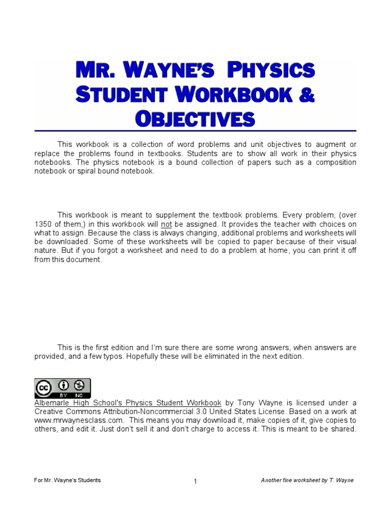 Workbooks bc science 10 workbook : Physics Student Workbook 2010 1_213 | Velocity | Acceleration