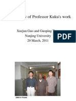 Some Review of Professor Kuku's Work
