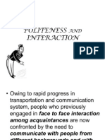 Politeness and Interaction July 2011 Teacher