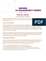 26.07.10.Life Style Management Series-Avoiding Conflicts & Arguments