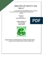 Market Analysis of Perfetti Van Melle
