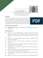 Resume Dr.ashokKumar