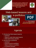 Web-Based Lessons and E-portfolios