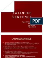 Latinske Sentence