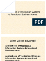 Applications of Information Systems to Functional Business Areas