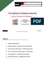 SQL Intrusion Prevention