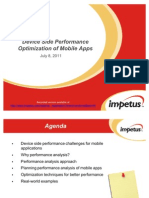 Device Side Performance Optimization of Mobile Apps_July11