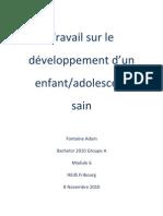 Travail sur le développement