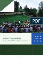 Justice Compromised   Rwanda