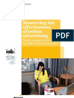 Measuring the Effectiveness of Online Advertising Study Conducted by PwC for IAB France and the SRI