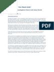 Background Investigation Checklist