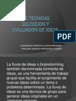 2.2 Tecnicas de Seleccion de Ideas
