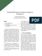 Comunicao Intrerna Nas Empresas Portuguesas