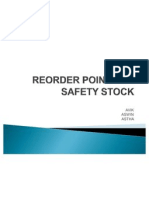 Reorder Point and Safety Stock