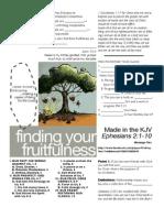 Fruitfulness 2 Eph 2-1-10 Handout 071711