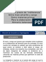 Analisis Del Precio de Indiferencia Entre Maiz Amarillo y Sorgo Como Materias Primas Para La Elaboracion de Alimento Balance Ado