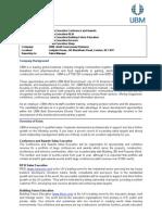 Sales Executive roles UBM