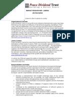 Employment Opportunity - Market Researcher - Liberia