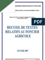 Lois du Foncier Agricol  ALGERIE janvier 2009