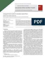 Conjugated Heat Transfer in Unsteady Channel Flows