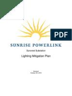 Suncrest Substation Lighting Mitigation Plan 102610