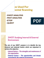 Techniques Used for Environmental Scanning