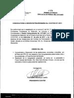 Convocatoria CCS-FISCALIA Sesión extraordinaria No. 017 13-07-11