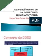 Concepto y clasificación de los DERECHOS HUMANOS
