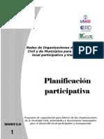 Apoyo a Iniciativas Ciudadanas Planificacion Participativa