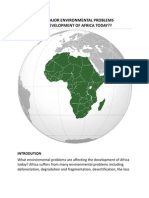 WHAT ARE THE MAJOR ENVIRONMENTAL PROBLEMS AFFECTING THE DEVELOPMENT OF AFRICA TODAY