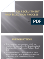 A Study on Recruitment and Selection Process