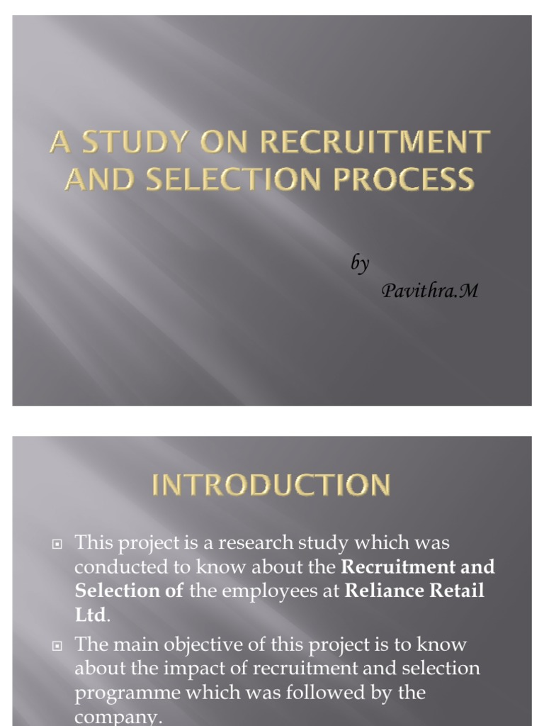 literature review on recruitment and selection process pdf