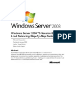 Windows Server 2008 TS Session Broker Load Balancing Step-By-Step Guide