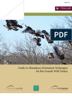Guide to Abundance Estimation Techniques for Rio Grande Wild Turkey