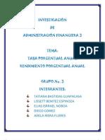 Grupo 3 Tasa y Rendimeinto Porcentual Anual