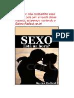 Sexo. Está na hora