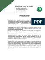 SEMINARIO BÍBLICO DEL VALLE METODO DEVOCIONAL